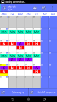 Screenshot of Work Calendar