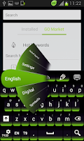 Screenshot of Green Keypad for Android