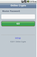 Screenshot of Online Crypto Password Manager