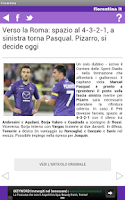 Screenshot of Fiorentina.it
