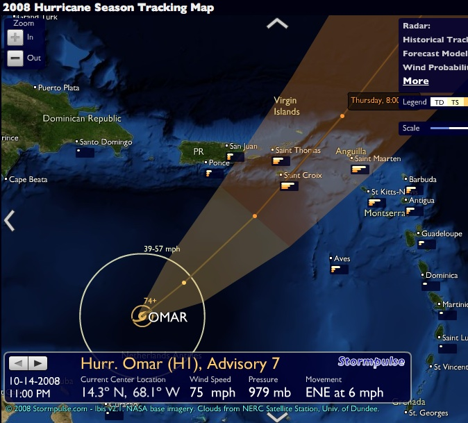 Track Tropical Depression Sixteen, Track Hurricane Omar _ Stormpulse _ Hurricane tracking, mapping.jpg