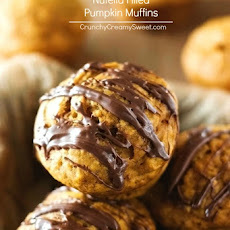 Nutella Filled Pumpkin Muffins