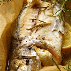 Loup De Mer En Papillote (Baked Sea Bass Wrapped in Paper)