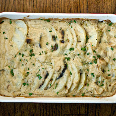 Scalloped Potatoes And Eggplant Bacon