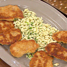 Paneed Pork Medallions with Herbed Spaetzle and Brown Butter Sauce