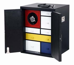 Mondrian-Inspired Watch Cabinet by Smythson