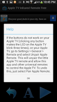 Screenshot of Apple TV Infrared Remote Free