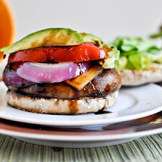 Piled Portobello Gouda Burgers with Roasted Garlic
