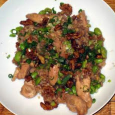Brown Rice and Chicken Stir-Fry with Edamame and Walnuts