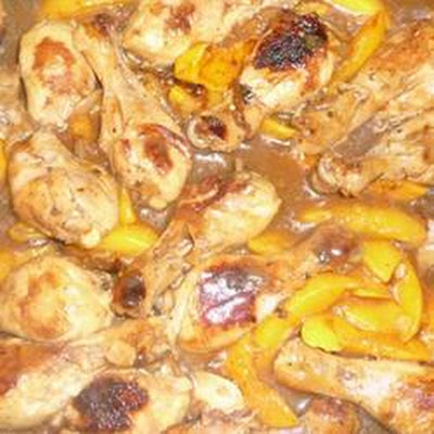 Drumsticks with Peach and Honey