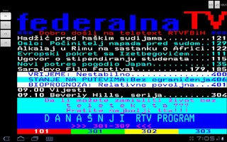Screenshot of FTV Teletekst