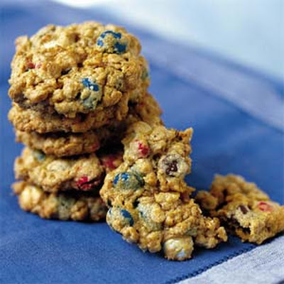 Chewy Red, White, and Blue Cookies