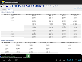Screenshot of Orlando Bus Schedule