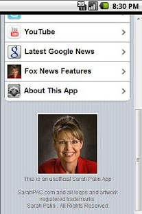 Ultimate Sarah Palin App - screenshot