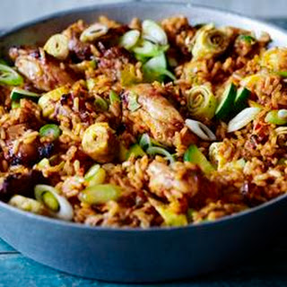 Nasi Goreng With Lime And Sugar Barbecued Chicken