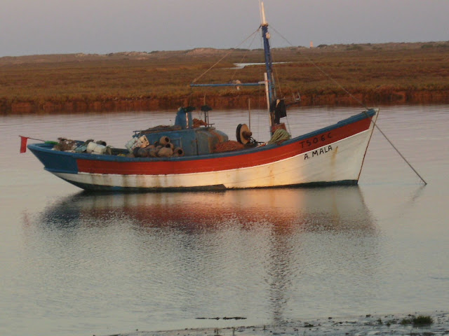 Fishing boat at anchor on the Ria Formosa
