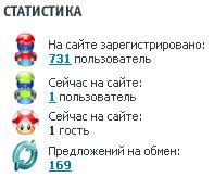GameXchange, статистика по обмену играми