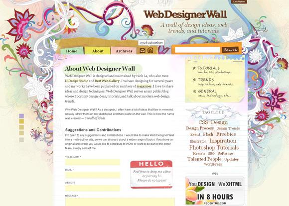 WebDesignerWall - лучшие блоги о дизайне