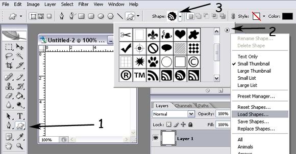 формы (shapes) для фотошопа