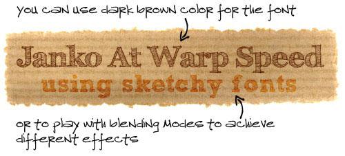 рукописные шрифты, бумажная текстура