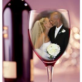 by Theresa Stevens - Wedding Bride & Groom