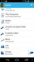 Screenshot of Contact View Free