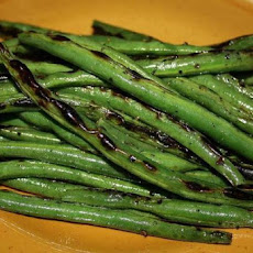 Grilled Green Beans With Gorgonzola Vinaigrette