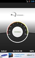 Screenshot of Rychlost.cz - měření připojení