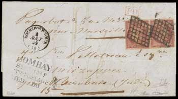 1fr vermillon sur lettre