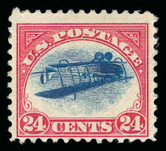Inverted Jenny, position 13