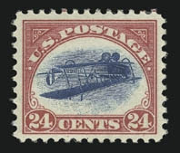 Inverted Jenny, position 58