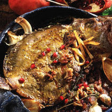 Stuffed Fish with Pomegranate Sauce (Mahi-ye tu por ba anar)  Recipe