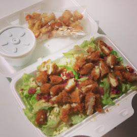 Chicken Caesar Salad by Steven Lockyer - Food & Drink Plated Food