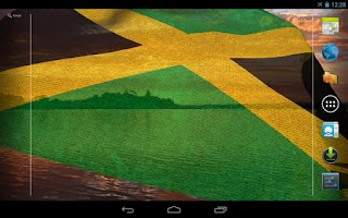 Screenshot of 3D Jamaica Flag Live Wallpaper