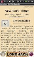 Screenshot of 1861 Aug Am Civil War Gazette