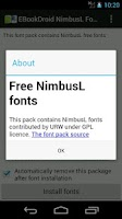 Screenshot of EBookDroid NimbusL FontPack