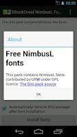 Screenshot of EBookDroid NimbusL FontPack