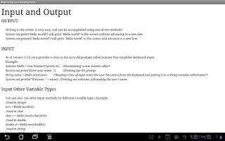 Screenshot of Beginning Java Programming