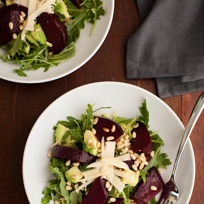 Beet, Avocado, and Arugula Salad