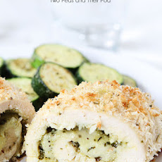 Mozzarella Pesto Stuffed Chicken Breasts