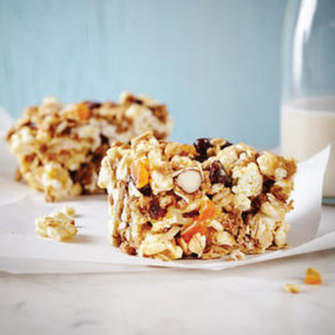 Fruit and Nut Popcorn Bars