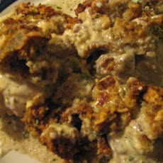 Super Easy Chicken Casserole With Stuffing