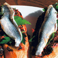 Montaditos with Boquerones and Olive Relish Recipe