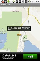 Screenshot of Yellow Cab App
