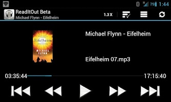 Screenshot of ReadItOut Audio Book Player β