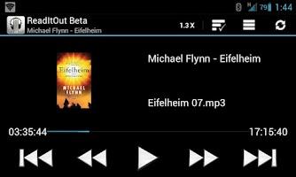 Screenshot of ReadItOut Audio Book Player β