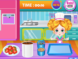 Screenshot of Baby Strawberry Cake Cooking