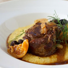 Braised Pork Shoulder with Fennel, Oranges & Olives
