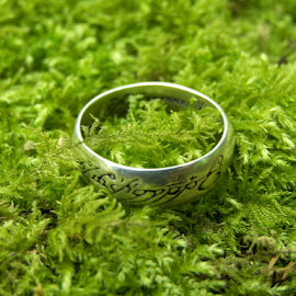 Mystical Ring by Mezei  József Tibor (MJ) - Artistic Objects Jewelry ( plant, ring, magic, nature, green, silver, art, jewelry, forest, photo )