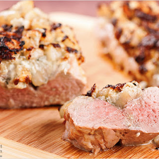 Pear and Gorgonzola-Stuffed Pork Tenderloin